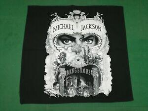 MICHAEL JACKSON Dangerous  - Rare  Vintage BANDANA  cm.52x55  -  Made in Italy.