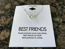 """Womens Sterling Silver Handcuff Pendant 18"""" Link Chain Necklace"""