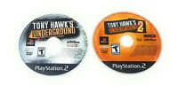 Tony Hawk's Hawk Underground 1 & 2 PlayStation 2 PS2 Lot Disc Only FREE SHIPPING