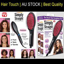 Simply Straight Electric Hair Brush Straightener Ceramic Straightening Post