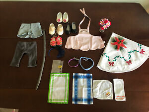 """American Girl Our 18"""" Doll Clothing & Accs 19 Pc Mixed Random Lot Shoes Linens"""