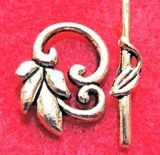 25Sets WHOLESALE Tibetan Silver LEAF / FLOWER Toggle Clasps Connectors Q0951