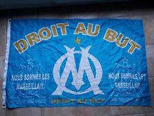 rare ancien grand drapeau om O.M Olympique Marseille no écharpe maillot  ultra