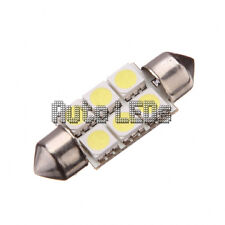 1 White SMD LED 36mm Festoon 12v Interior LED Bulb