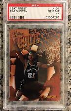 1997 Topps Finest Tim Duncan #101 Rookie Card PSA 10 GEM MINT