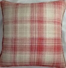 A 16 Inch cushion cover in Laura Ashley Williams Check Cranberry Fabric