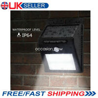 LED Solar Powered PIR Motion Sensor Light Outdoor Garden Security Wall Lights UK