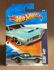 Hot Wheels 1:64 Muscle Mania '11 Olds 442 Blue T9816 New