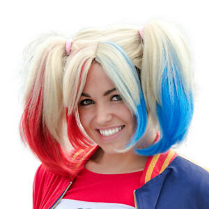 Adult Deluxe Harley Girl Cosplay Wig Costume Accessory