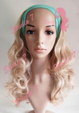W40 Ladies Honey Blonde Mix 3/4 wig  Long Curly Hair Piece - studio7-uk