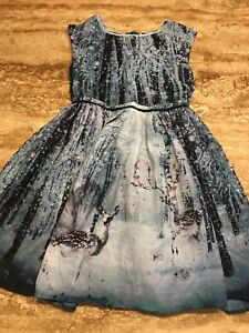 NEXT Girls Christmas Winter Dress - Age 10 Excellent Condition