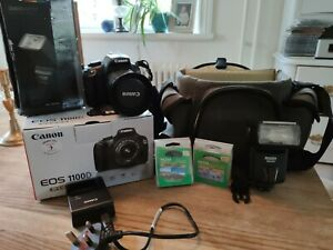 Canon EOS 1100D kit with case and accessories