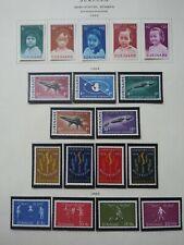 Surinam Mint Semipostals 1963-67, 17 Diff Sets & Minisheets, Scott Value $ 19.15