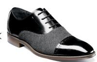 Stacy Adams Shoes Barrington Cap Toe Oxford Black Lace Up 25222-001