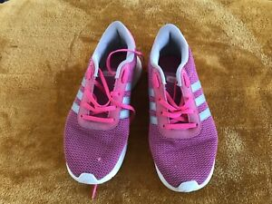 ADIDAS PINK/SILVER TRAINERS UK 5 EURO 38