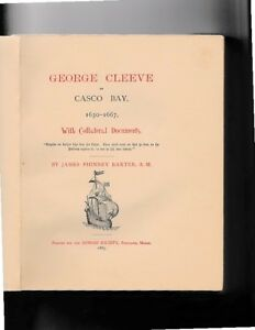 James Phinney Baxter-1885-GEORGE CLEEVE of CASCO BAY, 1630-1667 (Gorges Society)