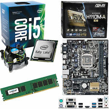 INTEL Core i5 7400 3.0Ghz (3.5Ghz), ASUS H110M-A/M.2 & 4 Go 2133 MHz DDR4 Ram