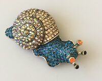 Vintage style large snail brooch Pin