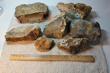 OLD Plume Agate - Colorful Cutting Rough - 10+ pounds! 332