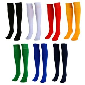 Mens Womens Football Plain Long Socks Sports Knee High Large Hockey Soccer Rugby