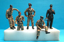 MASTER PAINTED 7440 1/72 WWII GERMAN TIGER ACES WITTMANN 5 METAL FIGURES SET