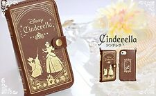 iPhone SE5 / 5s / 5c Leather Wallet Case Disney Cinderella Old Book Hamee Japan