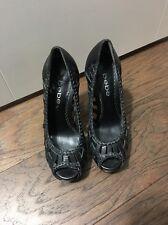 Women's Bebe Ibiza Platform Shoes Size 5 Black