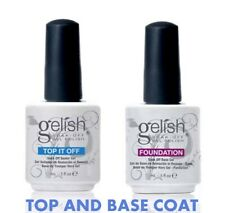Gelish Harmony Foundation & Top It Off Soak-Off UV Gel Nail Polish Genuine - UK