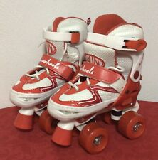 Aerowheels Quad Youth Girl's Micro-Adjustable Skate Size 10J-13J Red/White New
