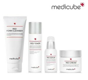 MEDICUBE Red Line Full Set Cleanser Toner Serum Cream 4 pcs Acne Sensitive Skin