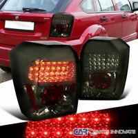 Dodge 07-12 Caliber Smoke Lens LED Tail Lights Tinted Brake Rear Parking Lamps