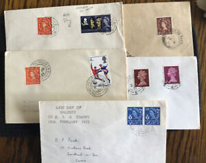 GB Railway Postmarks - 5 x T P O's & Sorting Carriages 1960s