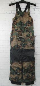 New Youth 686 Boys Cornice Insulated Bib Snowboard Pants Medium Army Cubist Camo