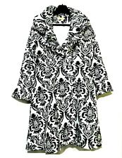 Black and white baroque print Coat dress