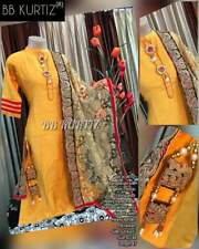 Linen  gown with hand work with  Bell sleeves Beautiful Pure cotton