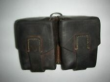 WW I - WW II  Leather Belt Cartridge Pouch Double Ammo Clip Bullet Holder