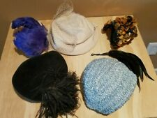 Antique Vintage Women's Ladies Dress Hats (20s-40s) Lot of 5