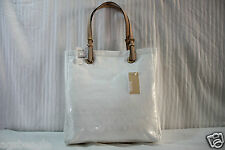 Michael Kors Bag 38T1CTT3Z Mirror Metallic Jet Set Tote White Agsbeagle