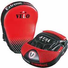 VELO Leather Focus Pads,Hook and Jab,MMA Boxing Kick Curved Mitt Gloves Thai