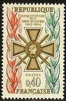 """FRANCE STAMP TIMBRE N° 1452 """" CROIX DE GUERRE 0,40F """" NEUF xx LUXE"""