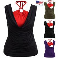 Women Nursing Maternity Sleeveless Tee Shirt Top Breastfeeding Vest Tank Clothes