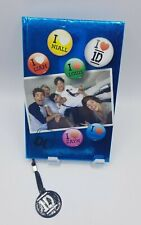 One Direction Band 120 Sheet Journal Hard Cover Book Blue Metallic 1D New