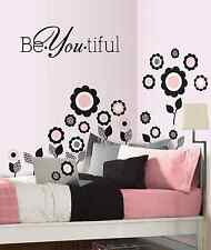 BeYOUtiful vinyl wall decal sticker quotes home art decor beautiful decor mural