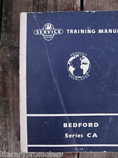 BEDFORD SERVICE TRAINING MANUAL SERIES CA 1959 TS 419 VAUXHALL MOTORS FACTORY
