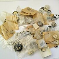 Lot of Mixed Vintage Watch Movements and Parts for Watchmakers (DB8)