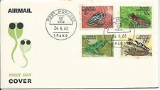 1968 Frogs set 4 FDI Port Moresby 24.4.68 Unaddressed Cover