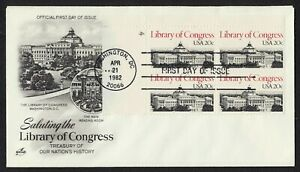 #2004 20c Library of Congress-PB 4 UL, Art Craft FDC **ANY 5=FREE SHIPPING**