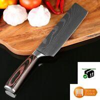 Couteau de cuisine Chef japonais Santoku Lame 18 cm Acier inoxydable au carbone