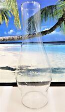 3 X 10 INCH TALL STANDARD CENTER BULGE CLEAR GLASS CHIMNEY OIL KEROSENE LAMP