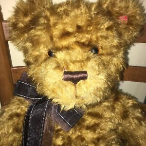 "Gund Barlow Teddy Bear Large 24"" Brown Premier Bear Collection Anniversary '08"